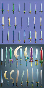 游戏刀剑用具矢量