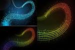 动感音符音谱曲线