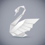 手工折纸白天鹅