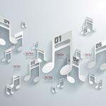 剪纸风格音乐音符