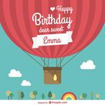 生日热气球