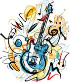创意电吉他涂鸦