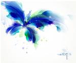 唯美的蓝色蝴蝶