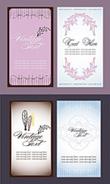 简单纹饰竖版卡片矢量素材