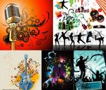 音乐人物创意矢量