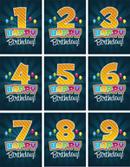 生日卡片数字
