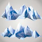 多边形拼接冰山