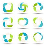 彩色环形标志