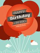 气球生日背景