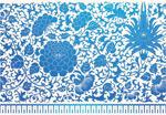 蓝色花卉花纹