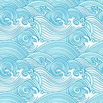 海浪花纹矢量