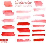 红色水墨迹