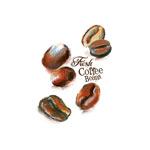 彩绘咖啡豆