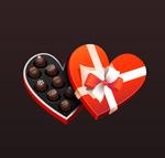巧克力爱心礼盒