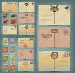复古明信片邮票