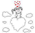 云朵上的情侣
