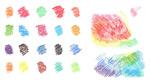 彩色蜡笔画笔刷