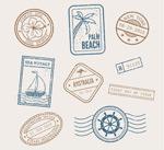 旅行度假邮戳