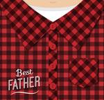 父亲节红格子衬衫