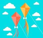 空中风筝矢量