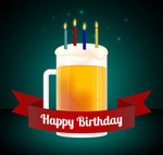 啤酒生日贺卡