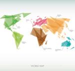 彩色世界地图量
