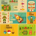 复古钓鱼海报