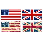 英美国旗设计