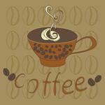 手绘咖啡杯子
