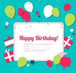 生日标签贺卡