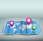 世界地图与地标