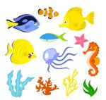 卡通海洋生物矢量