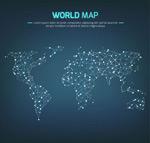 光点连线世界地图