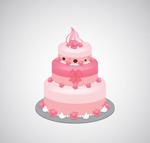 粉色三层蛋糕