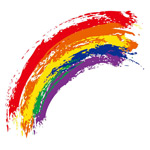 水彩涂鸦彩虹
