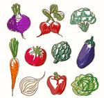 彩绘蔬菜矢量