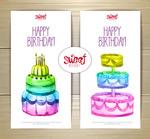 蛋糕生日卡片