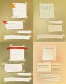 纸张粘纸矢量