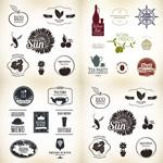 酒和食物设计元素