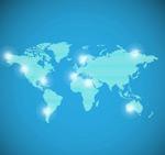 蓝色条纹世界地图