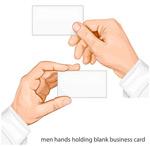拿空白卡片的手臂