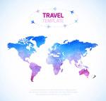环球旅行世界地图