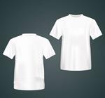 白色T恤正反面
