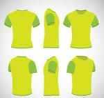 多角度绿色T恤