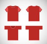 红色T恤矢量