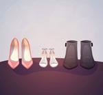 女式鞋子矢量