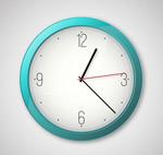 简洁蓝色时钟