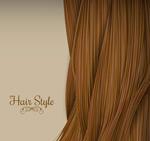 棕色长发背景矢量