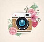 照相机和花卉