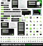 绿色网页元素